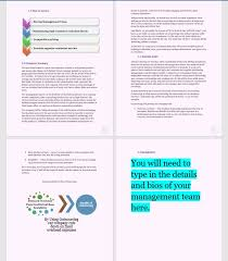 business plan template hotels