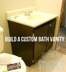 build a custom bath vanity u2013 designs by studio c