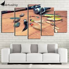 hd printed 5 piece canvas art fishing hook painting wall pictures