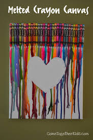 How To Take Crayon Off Walls by Come Together Kids Melted Crayon Canvas