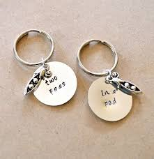 2 peas in a pod keychain two peas in a pod keychain set best friend s keychain gift