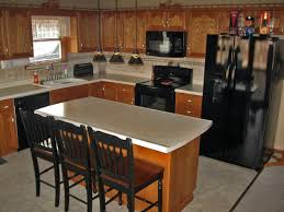 kitchens with black appliances and oak cabinets rustic kitchen with modern black appliances decoration kitchen