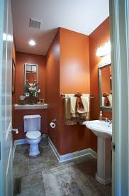 orange bathroom ideas orange you glad that cavern clay sw 7701 looks so stunning in this