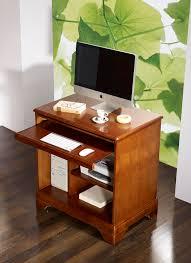 bureau ordinateur bois petit bureau informatique en merisier de style louis philippe