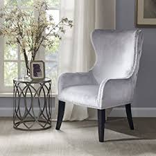 Silver Accent Chair Park Hancock Button Tufted Back Accent Chair
