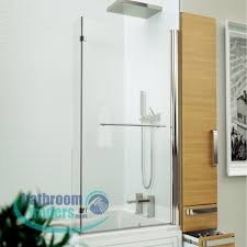 online bathroom store inspire l shaped bathscreen optional rail hover to zoom