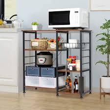 wayfair kitchen storage cabinets chehalis 35 4 h x 34 6 w x 15 7 d 3 tiers kitchen multifunctional storage cabinet rack