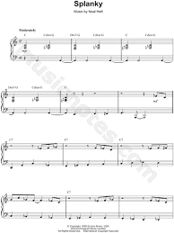 Count Basie Splanky Pdf Count Basie Orchestra Splanky Sheet Piano In C
