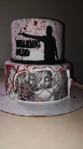 Fondant Halloween Cakes by Walking Dead Cake On Cake Central Spooky Cakes And Party Themes