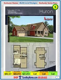 modular home rochester homes cape cod huron p6 bi level plans