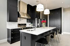 kitchen black and white design realizing a black kitchen design