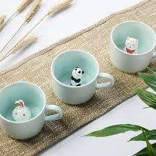 amazon com zah 300ml 3d animal cup morning mug panda home u0026 kitchen