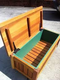 wood outdoor storage bench plans diy patio bench with storage