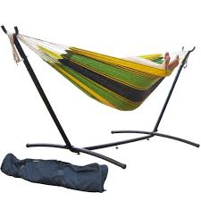 Ll Bean Hammock Stand Amazon Com Prime Garden 9 U0027 Double Hammock With Space Saving
