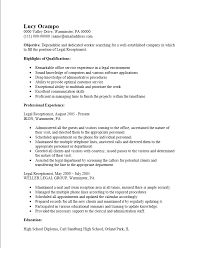 Receptionist Resume Example by Free Legal Receptionist Resume Template Sample Ms Word