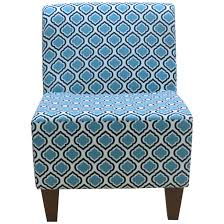 Home Decorators Chairs Slipper Blue Accent Chairs Wayfair Penelope Armless Curt Medallion