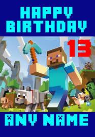 minecraft birthday cards 25 best minecraft birthday card ideas on