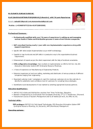 Resume Format Experienced Pdf by Format 10 Years Experience