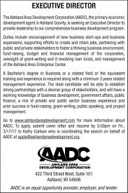 grant writing on resume ashland area development corporation executive director ashland area development corporation executive director employment ads from ashland daily press
