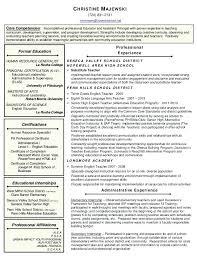 principal resume sample elementary principal resume
