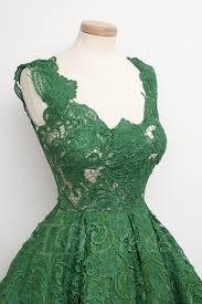 a line v neck lace short vintage cocktail dress tbdress com
