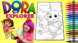 dora coloring book pages coloring dora the explorer giant coloring book page crayola