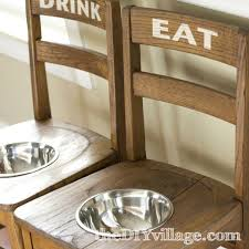 january diy projects a month in review the diy village diy dog bowl chairs elevated feeding station