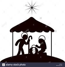 christmas manger christmas manger symbol stock vector illustration vector