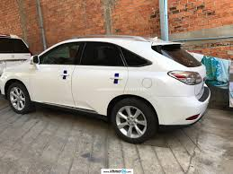 suv lexus white lexus rx 350 2010 crystal white full option side cameras new