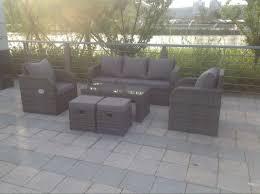 Rattan Garden Furniture Grey Rattan Garden Furniture Set Sofa Reclining Chairs