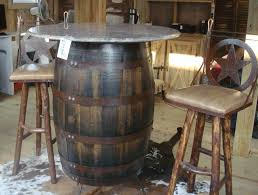 Barrel Bistro Table Whiskey Barrel Bistro Table Frantasia Home Ideas Diy Whiskey