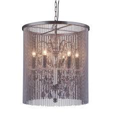 Metal Chain Chandelier Elegant Lighting Madison 6 Light Mocha Brown Chandelier With Clear