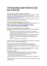 family invitation letter for uk visa sample mediafoxstudio com