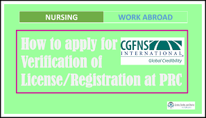 Authorization Letter Sample For License Renewal how to apply for cgfns verification of license registration at prc