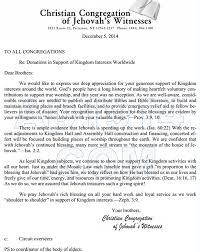 Victim Witness Coordinator Letter The U201ckingdom Haul U201d Of Jehovah U0027s Witnesses Part 1 Of 2 1914
