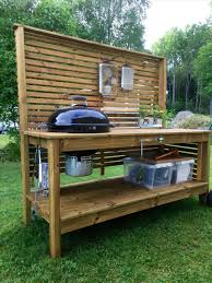 kamado joe grill table plans big green egg kamado joe rhpinterestcom custom table with built in