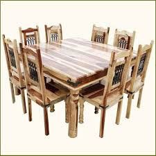 Dining Room Set For 12 9pc Rustic Square Dining Room Table Chair Set For 8 People Square