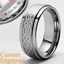 mens celtic wedding bands 8mm mens celtic titanium ring wedding band free sizing