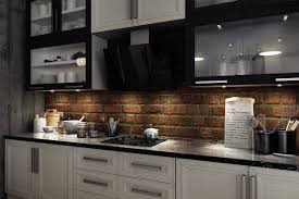 brick backsplash in kitchen interior design interesting brick backsplash with cooktop and