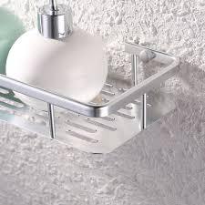 12 inch aluminum bathroom shelf wall mounted silver sand sprayed
