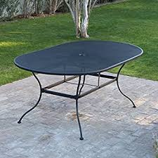 oval patio table belham living stanton 42 x 72 in oval wrought iron