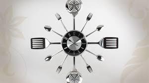 horloge de cuisine murale stickoo