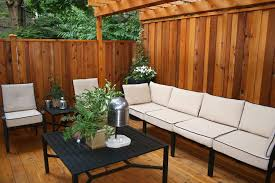 Wood Patio Deck Designs Exterior Graceful Linen Wood Deck Design Ideas With White Fabric