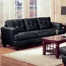 Simple Black Sofa Set Samuel Black Leather Sofa Steal A Sofa Furniture Outlet Los