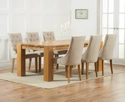 Oak Dining Table And Fabric Chairs Madeira 300cm Solid Oak Dining Table With Prague Fabric Chairs