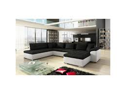 canap d angle en u grand canap eacute d x27 angle en u design alia noir et blanc 7