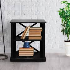 Chestnut Bookcase Casual Home Bay View Black 3 Shelf Bookcase 363 32 The Home Depot