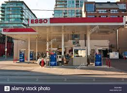 esso gas station downtown toronto canada stock photo royalty