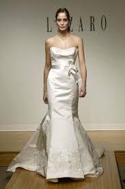 lazaro dresses lazaro ivory alencon lace silk duchess satin 3765 low strapless