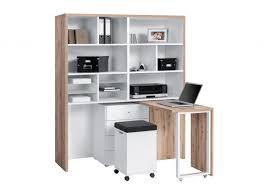 bureau avec rangement imprimante cool bureau avec rangement classique chic chene massif 140x75x74